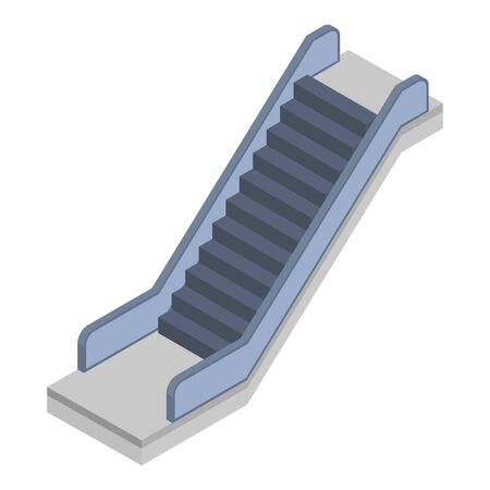 Railway escalator icon, isometric style Vectores