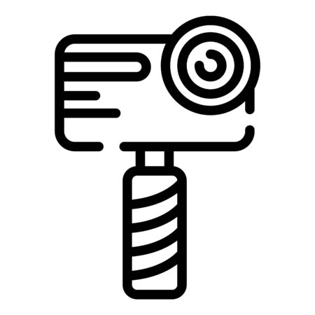 Handheld camera icon. Outline handheld camera vector icon for web design isolated on white background