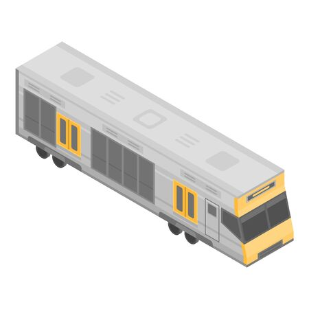 City luxury train icon. Isometric of city luxury train vector icon for web design isolated on white background
