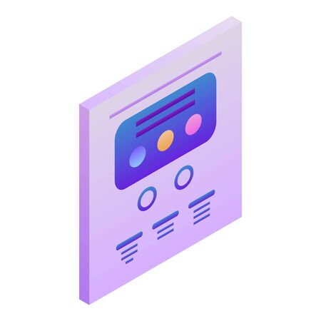 Points chart icon, isometric style