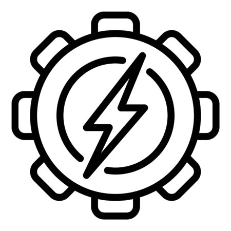Coal industrial energy icon. Outline coal industrial energy vector icon for web design isolated on white background