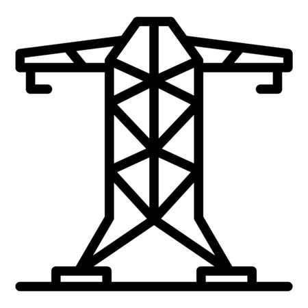 Electric tower icon. Outline electric tower vector icon for web design isolated on white background