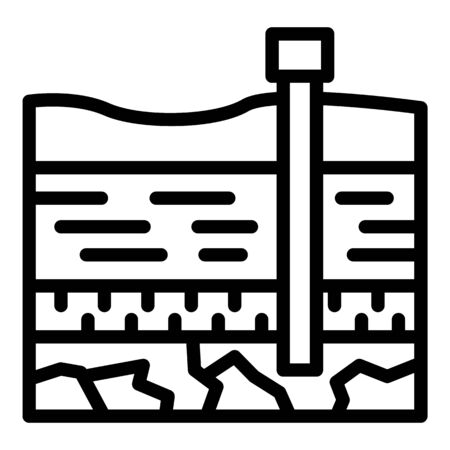 Coal industry icon, outline style