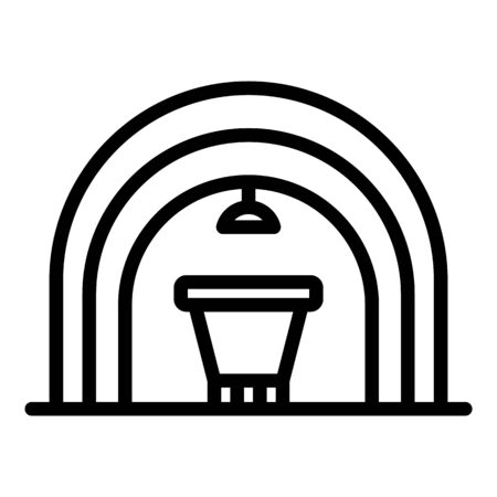 Coal extract tunnel icon, outline style