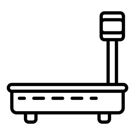 Big scales icon, outline style Illustration