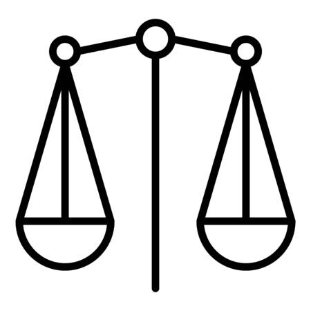 Plate scales icon, outline style