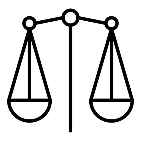 Plate scales icon, outline style Illusztráció