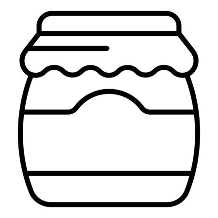 Tasty jam jar icon. Outline tasty jam jar vector icon for web design isolated on white background Illustration