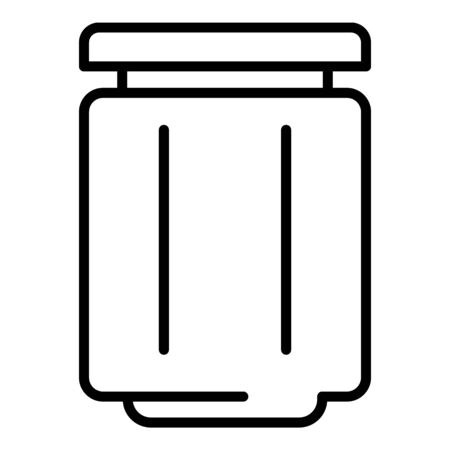 Healthy jam jar icon. Outline healthy jam jar vector icon for web design isolated on white background Illustration