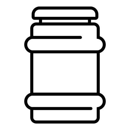 Glassware jam jar icon. Outline glassware jam jar vector icon for web design isolated on white background