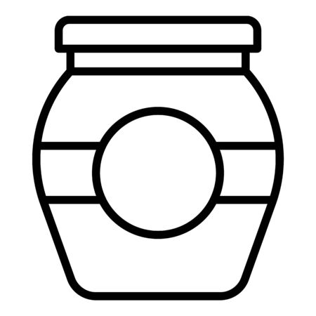 Conservation jam jar icon. Outline conservation jam jar vector icon for web design isolated on white background
