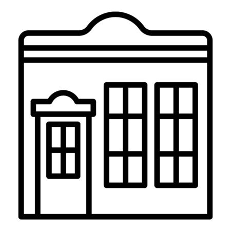Street shop icon, outline style