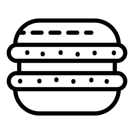 Macaroon icon, outline style
