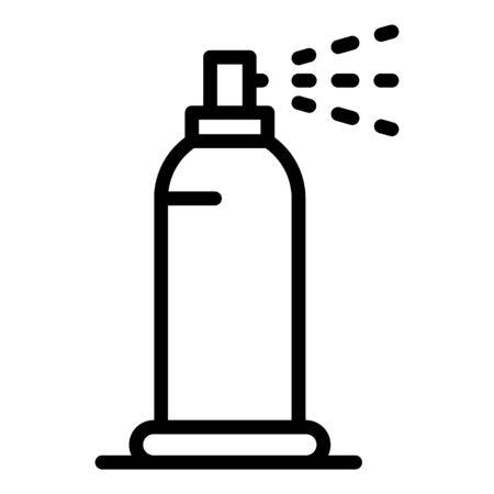 Plastic deodorant icon. Outline plastic deodorant vector icon for web design isolated on white background