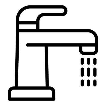 Open water tap icon, outline style