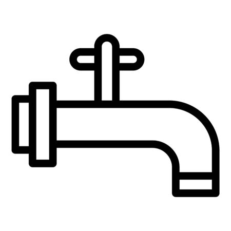 Italian faucet icon. Outline italian faucet vector icon for web design isolated on white background Illustration