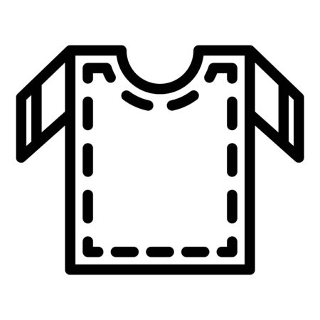 Cutting out sewing shirt icon. Outline cutting out sewing shirt vector icon for web design isolated on white background Illustration