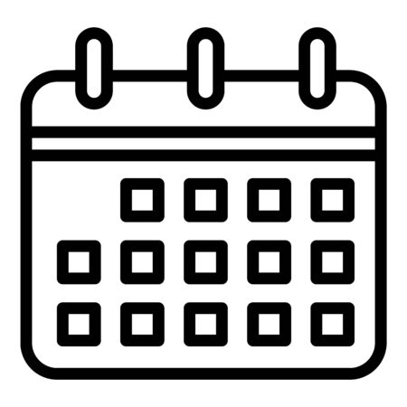 Medical calendar icon. Outline medical calendar vector icon for web design isolated on white background
