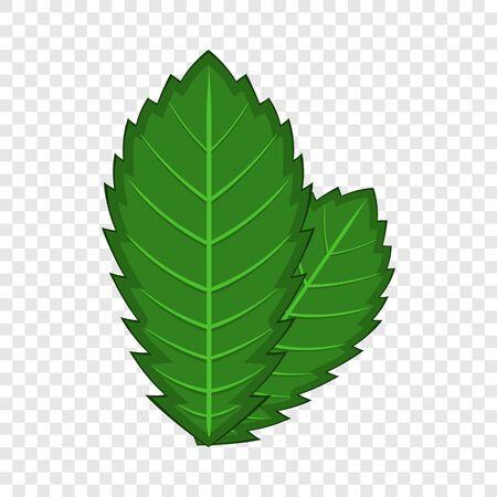 Elm leaf icon, cartoon style Illustration