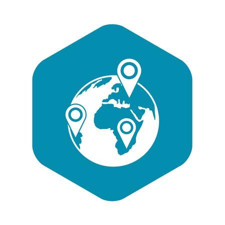 Globe of network icon, simple style Vektoros illusztráció