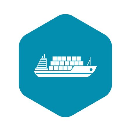 Cargo ship icon. Simple illustration of vector icon for web