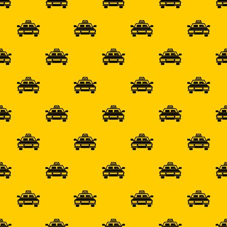 Taxi car pattern seamless vector repeat geometric yellow for any design