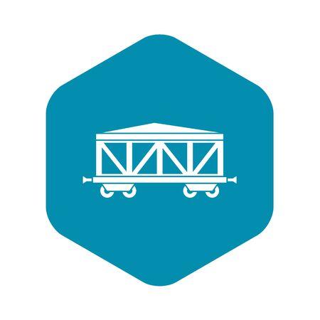 Train cargo wagon icon. Simple illustration of train cargo wagon vector icon for web