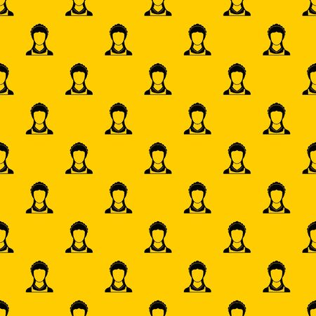 Cleaning household service maid pattern seamless vector repeat geometric yellow for any design