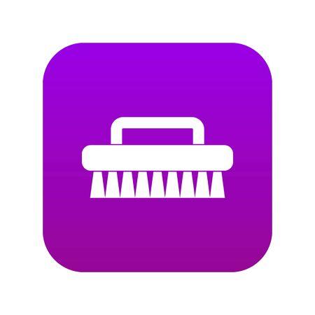 Cleaning brush icon digital purple