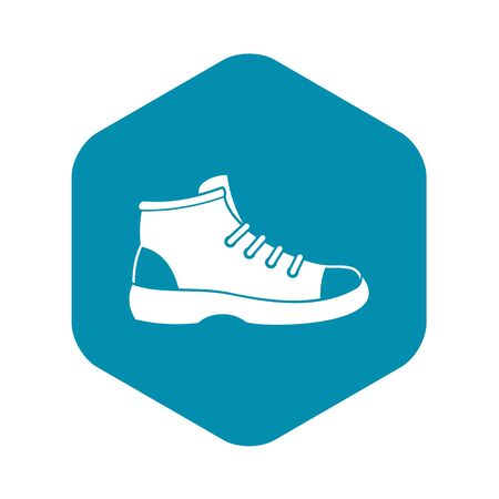 Tourist shoe icon. Simple illustration of tourist shoe vector icon for web 일러스트
