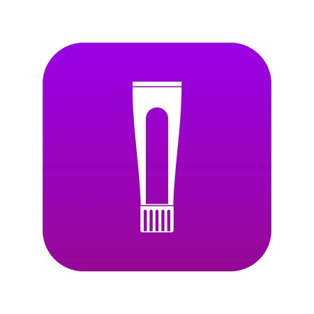 Toothpaste tube icon digital purple for any design isolated on white vector illustration Stock Illustratie