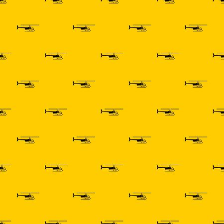 Helicopter pattern seamless vector repeat geometric yellow for any design