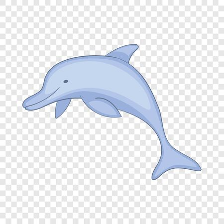 Dolphin icon, cartoon style