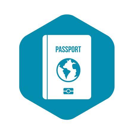 Passport icon, simple style