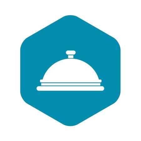 Restaurant cloche icon. Simple illustration of restaurant cloche vector icon for web