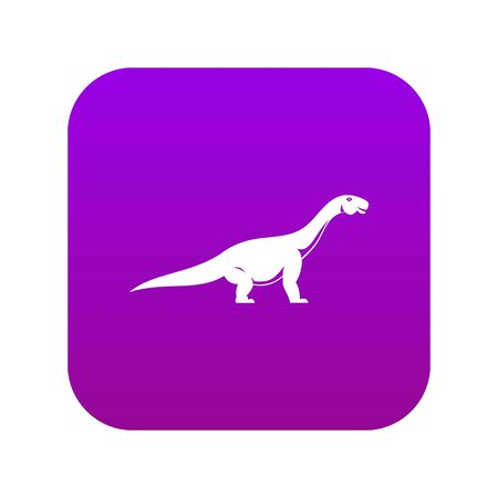 Titanosaurus dinosaur icon digital purple