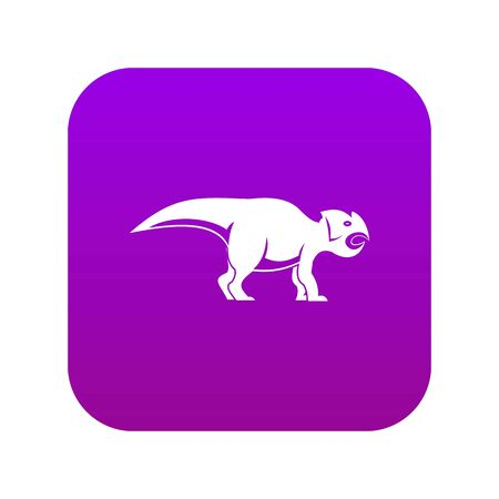 Ceratopsians dinosaur icon digital purple