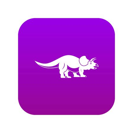 Styracosaurus icon digital purple