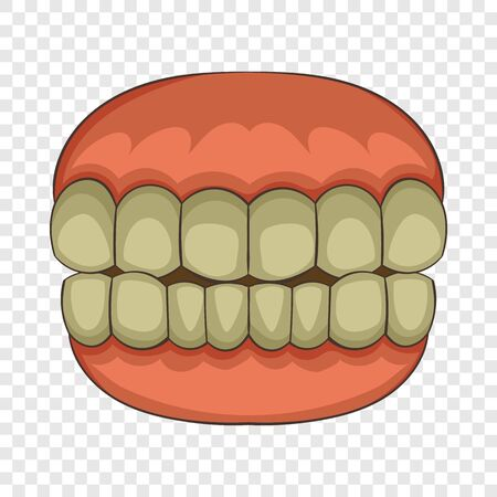 Teeth icon. Cartoon illustration of teeth vector icon for web  イラスト・ベクター素材