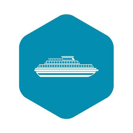Cruise ship icon. Simple illustration of ship vector icon for web design Illustration