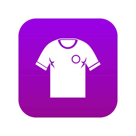 Soccer shirt icon digital purple for any design isolated on white vector illustration Banque d'images - 130248589
