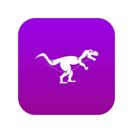 Tyrannosaur dinosaur icon digital purple