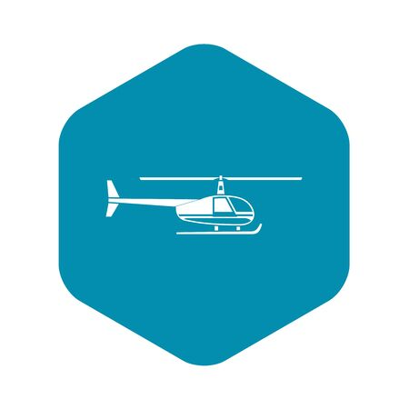 Helicopter icon. Simple illustration of helicopter vector icon for web design