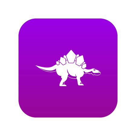 Stegosaurus dinosaur icon digital purple