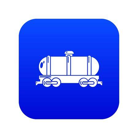 Tank car icon blue vector