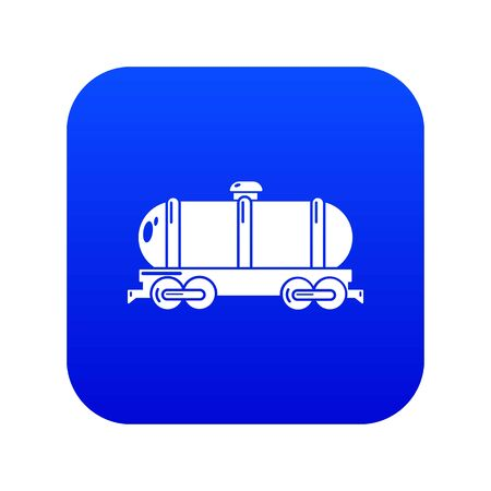 Tank car icon blue vector Standard-Bild - 126587940