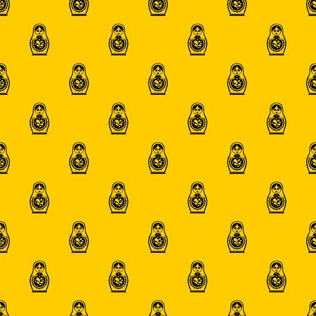 Matryoshka pattern seamless vector repeat geometric yellow for any design