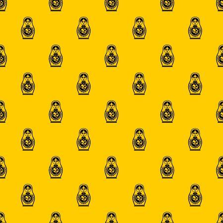 Matryoshka pattern seamless vector repeat geometric yellow for any design