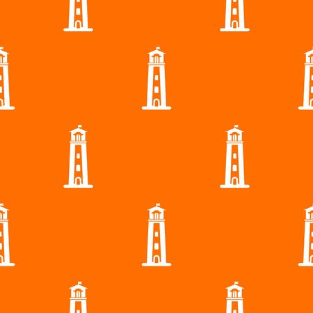 Beacon pattern vector orange