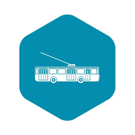 Trolleybus icon. Simple illustration of trolleybus vector icon for web design